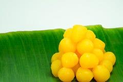 Goldene thailändische Süßspeise Lizenzfreie Stockfotografie