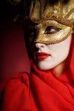 Goldene Theatermaske Stockfotos