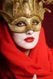 Goldene Theatermaske Lizenzfreie Stockbilder