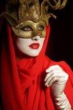 Goldene Theatermaske Lizenzfreies Stockfoto