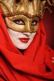 Goldene Theatermaske Stockfotografie