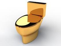 Goldene Toilettenschüssel #5 Stockbilder