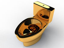 Goldene Toilettenschüssel #3 Lizenzfreies Stockbild