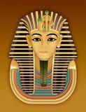 Goldene Totenmaske des Pharaos Stockfotografie