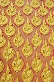 Goldene traditionelle siamesische Artkunst der Weinlese Lizenzfreie Stockbilder