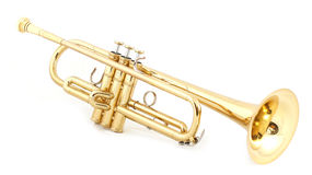 Goldene Trompete Lizenzfreie Stockfotos