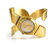 Goldene Uhr lizenzfreie stockfotografie