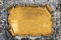 Goldene unbelegte Platte Lizenzfreies Stockfoto