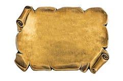 Goldene unbelegte Platte Lizenzfreie Stockbilder