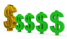 Dollarversorgung lizenzfreie abbildung