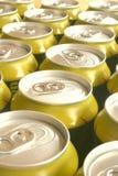 Goldene und silberne Dosen Lizenzfreies Stockfoto