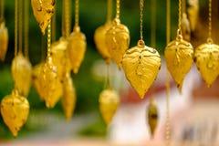 Goldene Urlaubdekoration Stockfotografie