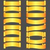 Goldene vektorfarbbänder eingestellt Stockfotografie