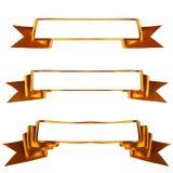 Goldene vektorfarbbänder eingestellt Stockfotos