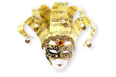 Goldene venetianische Schablone lizenzfreie stockfotos