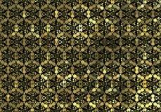 Goldene Verzierung der stilisierten Gitterverpflichtung lizenzfreie abbildung
