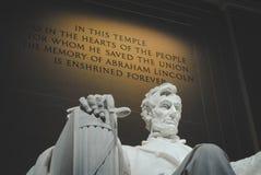 Goldene Wörter, Lincoln Memorial lizenzfreies stockfoto