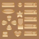 Goldene Web-Tasten Stock Abbildung