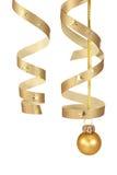 Goldene Weihnachtsdekoration stockbilder