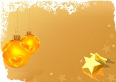 Goldene Weihnachtsgruß-Karte Lizenzfreie Stockfotografie