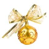 Goldene Weihnachtskugel Lizenzfreie Stockbilder