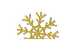 Goldene Weihnachtsschneeflocke Stockbild