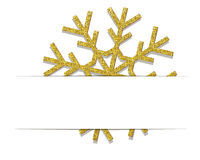 Goldene Weihnachtsschneeflocke Lizenzfreies Stockfoto