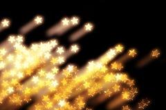 Goldene Weihnachtssterne Stockfotografie
