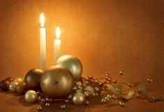 Goldene Weihnachtsszene Stockfoto