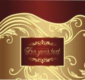 Goldene Weinleseschablone Stockfoto