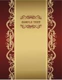 Goldene Weinleseschablone für Ihren Text Lizenzfreies Stockfoto