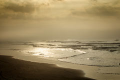 Goldene Wellen auf dem Strand Lizenzfreie Stockfotos