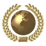 Goldene Welt lizenzfreie abbildung