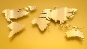 Goldene Weltkarte Lizenzfreie Stockbilder