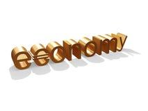 Goldene Wirtschaftlichkeit Lizenzfreies Stockbild