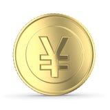 Goldene Yen Stockfotos