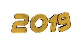 2019 goldene Zahlen vektor abbildung