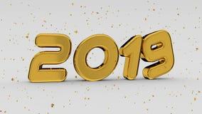 2019 goldene Zahlen stock abbildung
