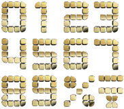 Goldene Zahlen 3D Stockfotografie
