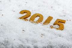 2015 goldene Zahlen Stockfoto