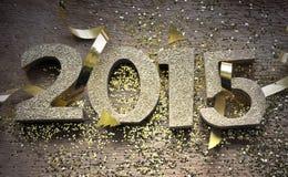 Goldene 2015 Zahlen Lizenzfreies Stockbild