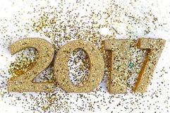 2017 goldene Zahlen Lizenzfreie Stockbilder