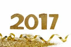 Goldene 2017 Zahlen Stockfotografie