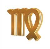 Goldene Zeichen Jungfrau Lizenzfreies Stockfoto
