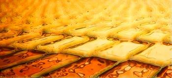 Goldene Ziegelsteine Stockfotos