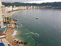 Goldene Zone Acapulcos der Hauptbucht Lizenzfreie Stockfotos