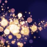 Goldener abstrakter Bokeh-Licht Hintergrund Lizenzfreies Stockfoto