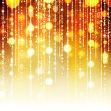 Goldener abstrakter Feiertagshintergrund Stockfoto