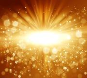 Goldener abstrakter Feiertagshintergrund Stockbild