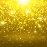 Goldener abstrakter Hintergrund Stockfotografie
